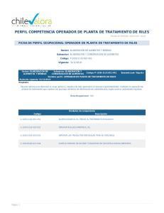 PERFIL COMPETENCIA OPERADOR DE PLANTA DE TRATAMIENTO DE RILES
