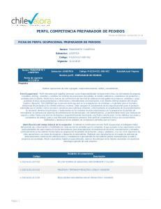 PERFIL COMPETENCIA PREPARADOR DE PEDIDOS