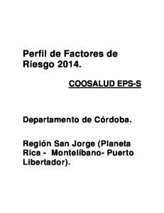 Perfil de Factores de Riesgo 2014