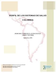 PERFIL DE LOS SISTEMAS DE SALUD COLOMBIA