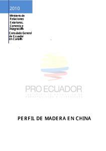 PERFIL DE MADERA EN CHINA