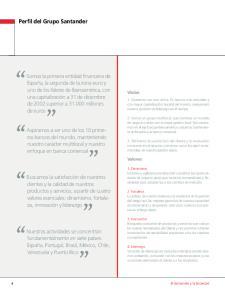 Perfil del Grupo Santander