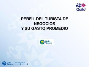 PERFIL DEL TURISTA DE NEGOCIOS Y SU GASTO PROMEDIO