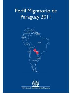 Perfil Migratorio de Paraguay 2011
