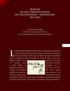 PERFILES DE LOS CONSTITUYENTES DE CHILPANCINGO - APATZINGÁN,