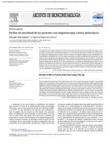 Perfiles de movilidad de los pacientes con oxigenoterapia crónica domiciliaria