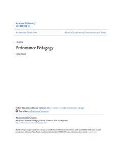 Perfomance Pedagogy SURFACE. Syracuse University. Dana Hareli