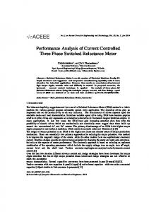 Performance Analysis of Current Controlled Three Phase Switched Reluctance Motor