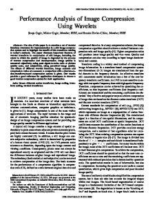 Performance Analysis of Image Compression Using Wavelets