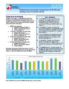 Performance and power comparison of inch desktop-class hard disk drives TEST REPORT JANUARY 2010