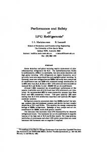 Performance and Safety of LPG Refrigerants