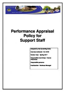 Performance Appraisal Policy for Support Staff