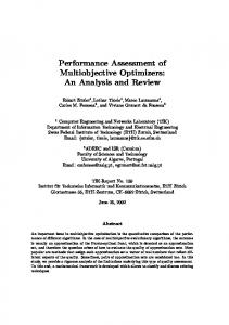 Performance Assessment of Multiobjective Optimizers: An Analysis and Review