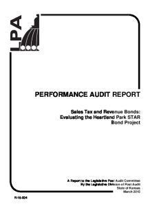 PERFORMANCE AUDIT REPORT