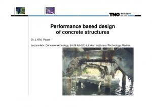 Performance based design of concrete structures