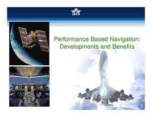 Performance Based Navigation: Developments and Benefits