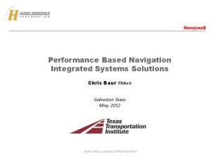 Performance Based Navigation Integrated Systems Solutions