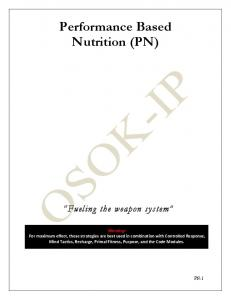 Performance Based Nutrition (PN)