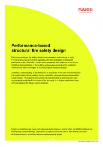 Performance-based structural fire safety design