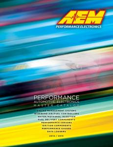 PERFORMANCE ELECTRONICS PERFORMANCE AUTOMOTIVE ELECTRONICS MASTER CATALOG. D ata L o g g e r s