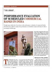 PERFORMANCE EVALUATION OF SCHEDULED COMMERCIAL BANKS IN INDIA