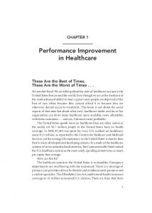 Performance Improvement in Healthcare