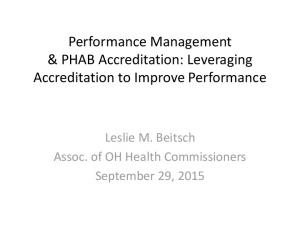Performance Management & PHAB Accreditation: Leveraging Accreditation to Improve Performance