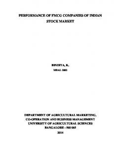 PERFORMANCE OF FMCG COMPANIES OF INDIAN STOCK MARKET