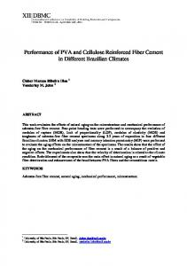 Performance of PVA and Cellulose Reinforced Fiber Cement in Different Brazilian Climates
