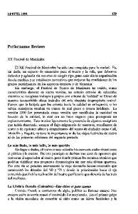 Performance Reviews SPRING XII Festival de Manizales