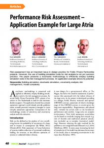 Performance Risk Assessment Application Example for Large Atria