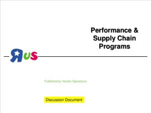 Performance & Supply Chain Programs