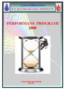 PERFORMANS PROGRAMI 2008