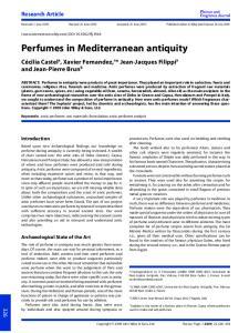 Perfumes in Mediterranean antiquity