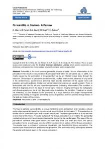 Pericarditis in Bovines- A Review
