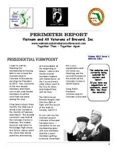 Perimeter Report Vietnam and All Veterans of Brevard, Inc