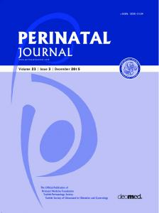 PERINATAL JOURNAL. Volume 23 Issue 3 December e-issn: