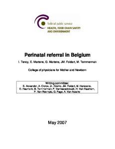 Perinatal referral in Belgium