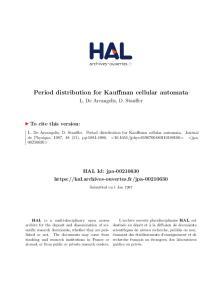 Period distribution for Kauffman cellular automata
