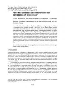 Periodate oxidation and macromolecular compaction of hyaluronan*