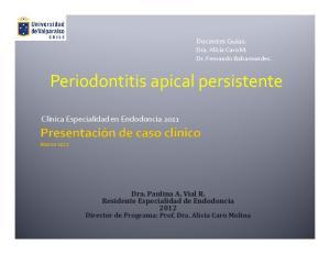 Periodontitis apical persistente