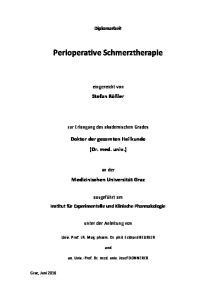 Perioperative Schmerztherapie