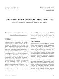 PERIPHERAL ARTERIAL DISEASE AND DIABETES MELLITUS