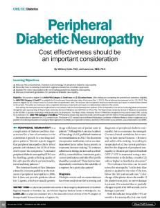 Peripheral Diabetic Neuropathy