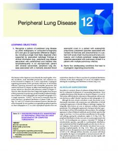 Peripheral Lung Disease