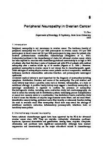 Peripheral Neuropathy in Ovarian Cancer
