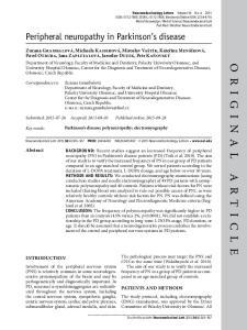 Peripheral neuropathy in Parkinson s disease
