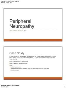 Peripheral Neuropathy