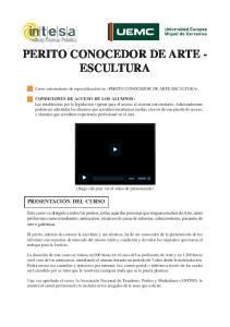 PERITO CONOCEDOR DE ARTE - ESCULTURA