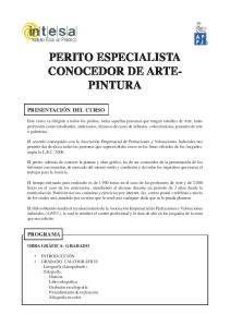 PERITO ESPECIALISTA CONOCEDOR DE ARTE- PINTURA
